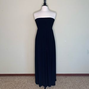 Forever 21 Strapless Maxi Dress Black Size XL